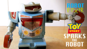 Disney Toy Story 3 SPARKS Robot - Large posable Pixar toy with light