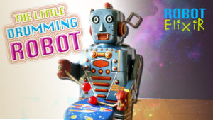 The Little Drumming Robot - Retro Musical Windup Toy