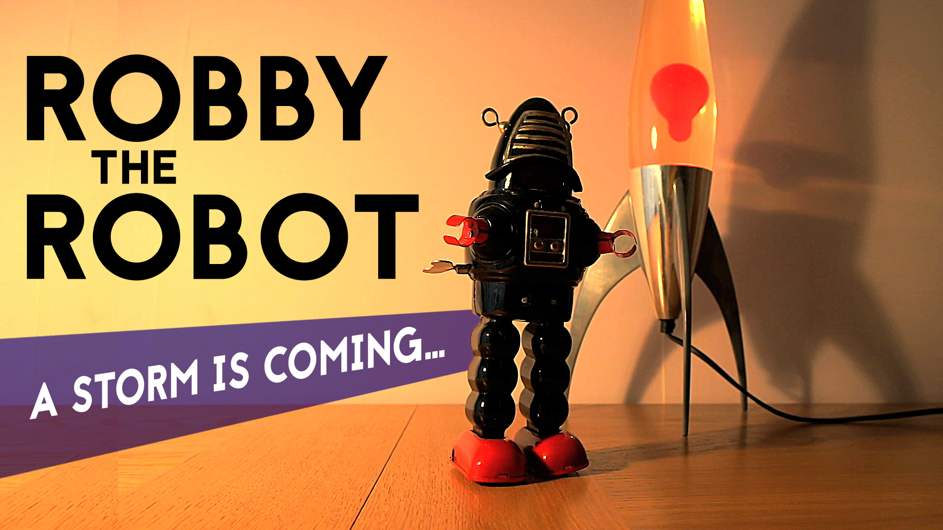 Robby the Robot Tin Toy (Thunderstorm sounds & Rocket Lava Lamp)