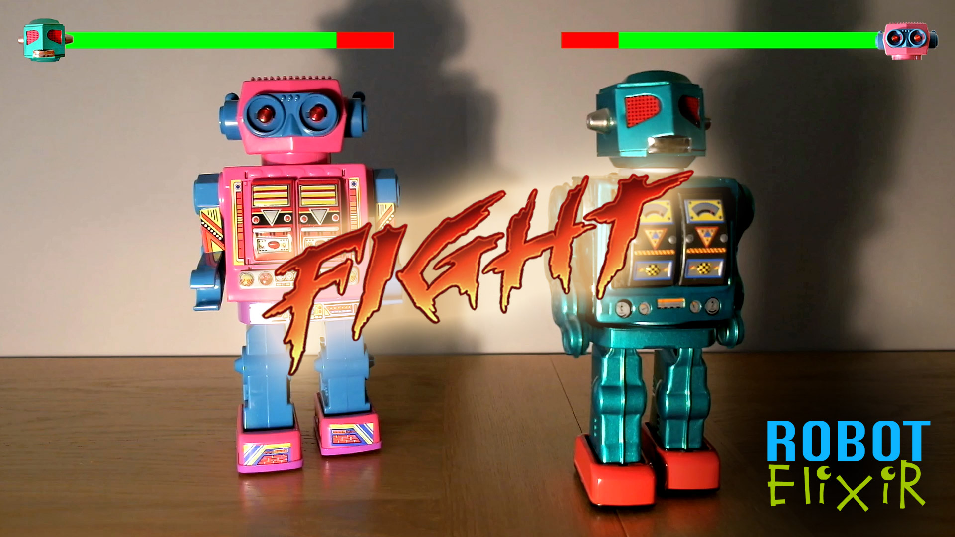 Awesome Fighting Robots with Epic Head-to-head Battle