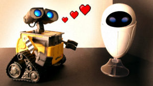 Wall-E meets Eve (and a cat) - Talking Thinkway Toys