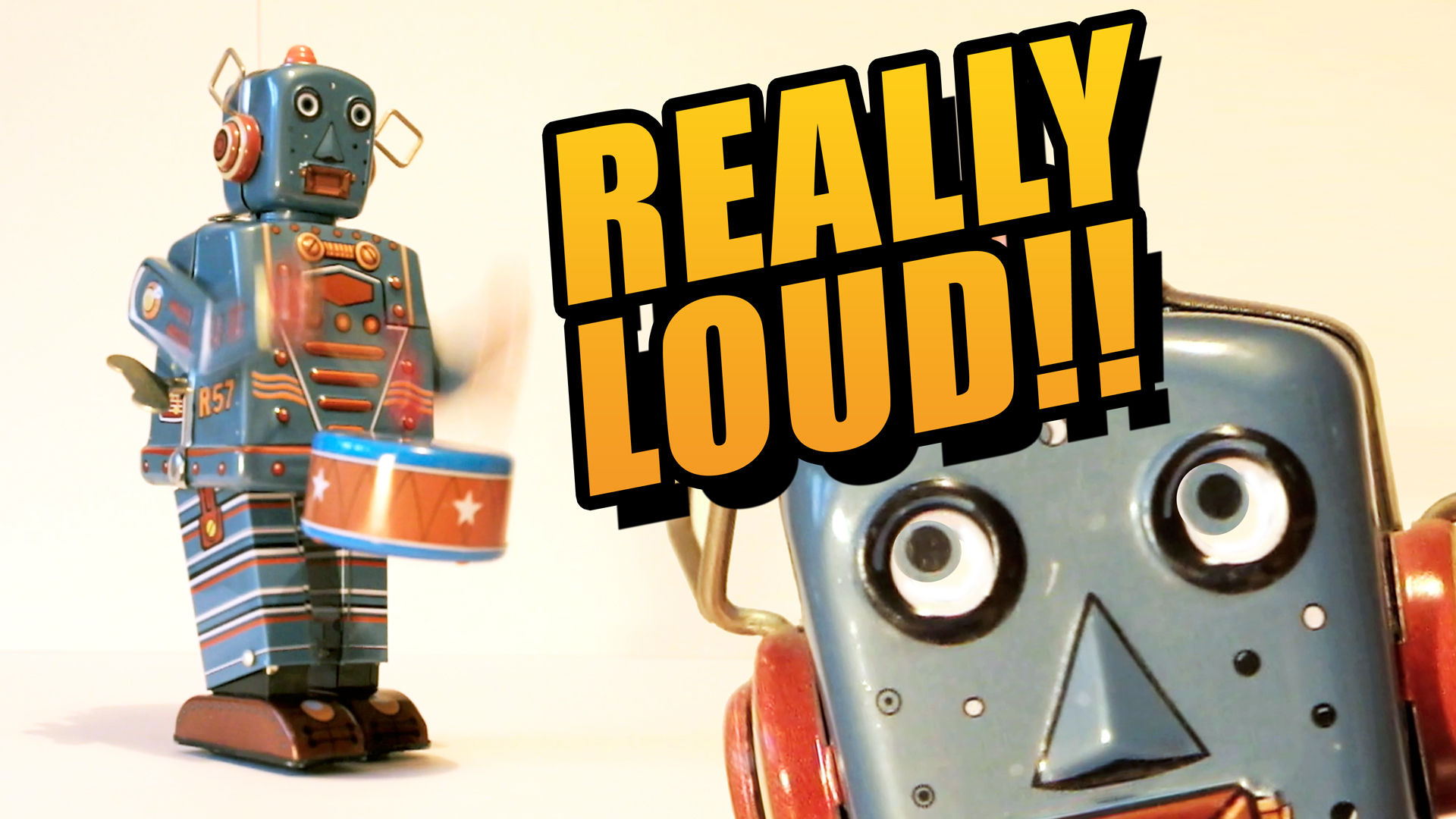 THIS IS SO LOUD! Epic Drumming Robot Toy