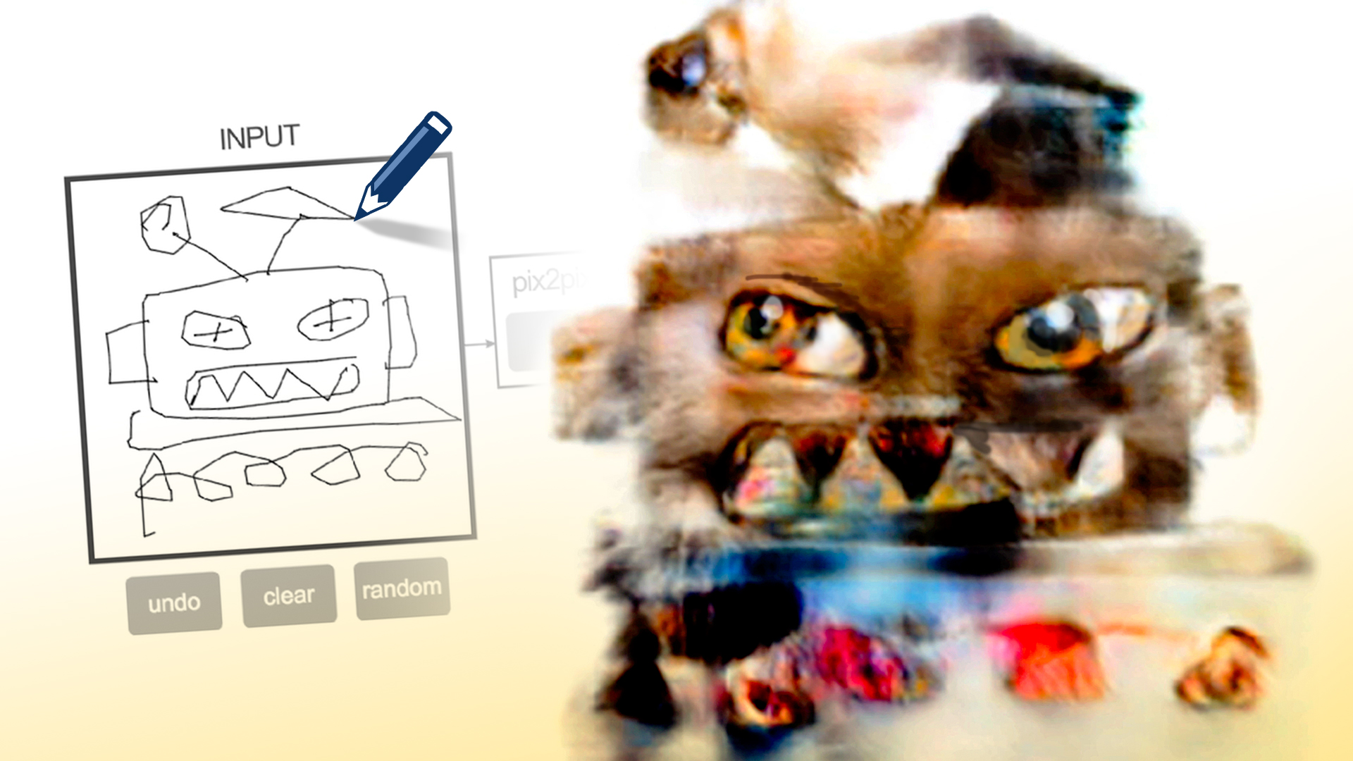 How to draw ROBOT CATS with edges2cats (pix2pix)