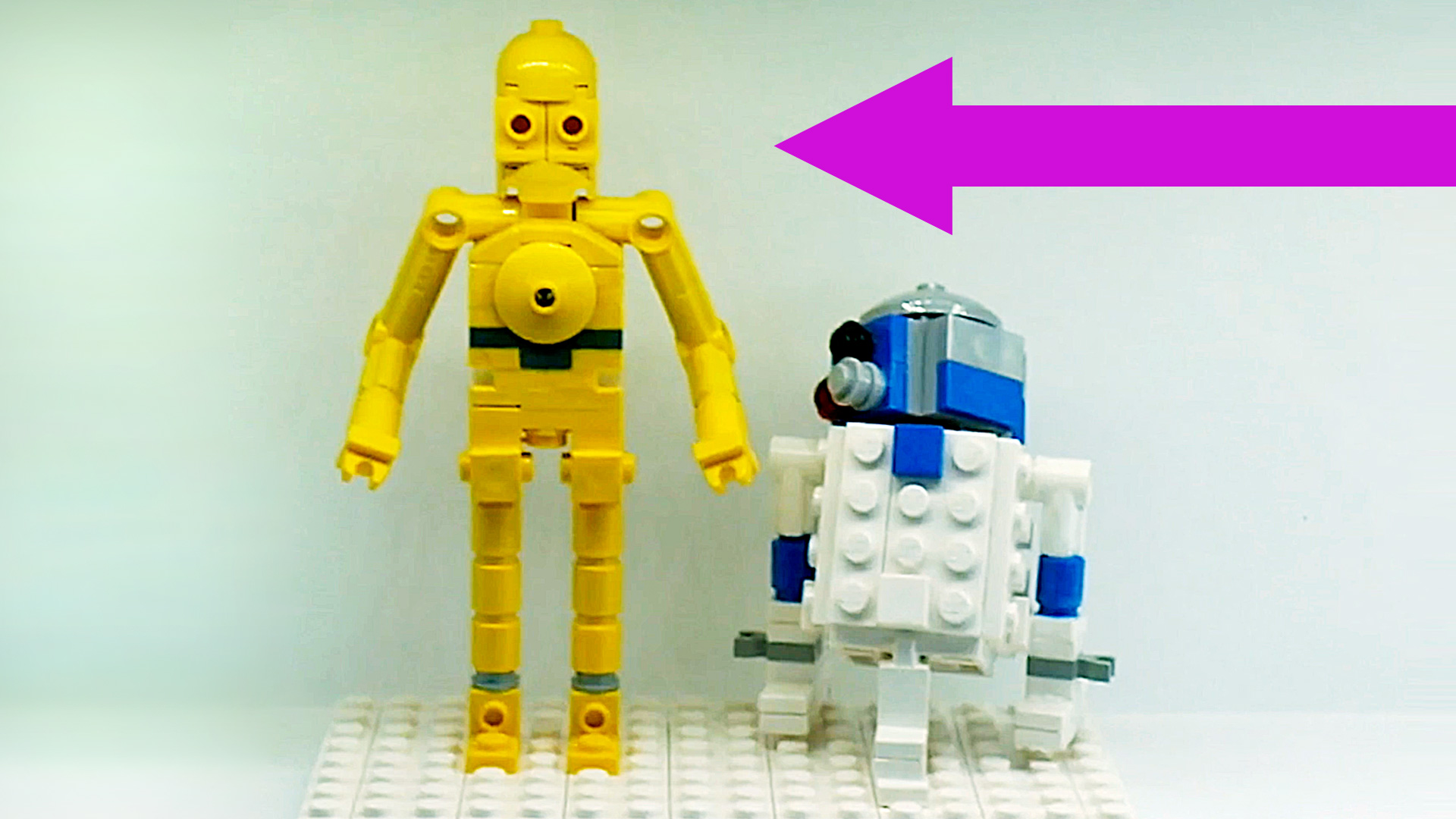 Lego Star Wars Figures at Legoland Windsor | C3PO and R2D2 minifigs