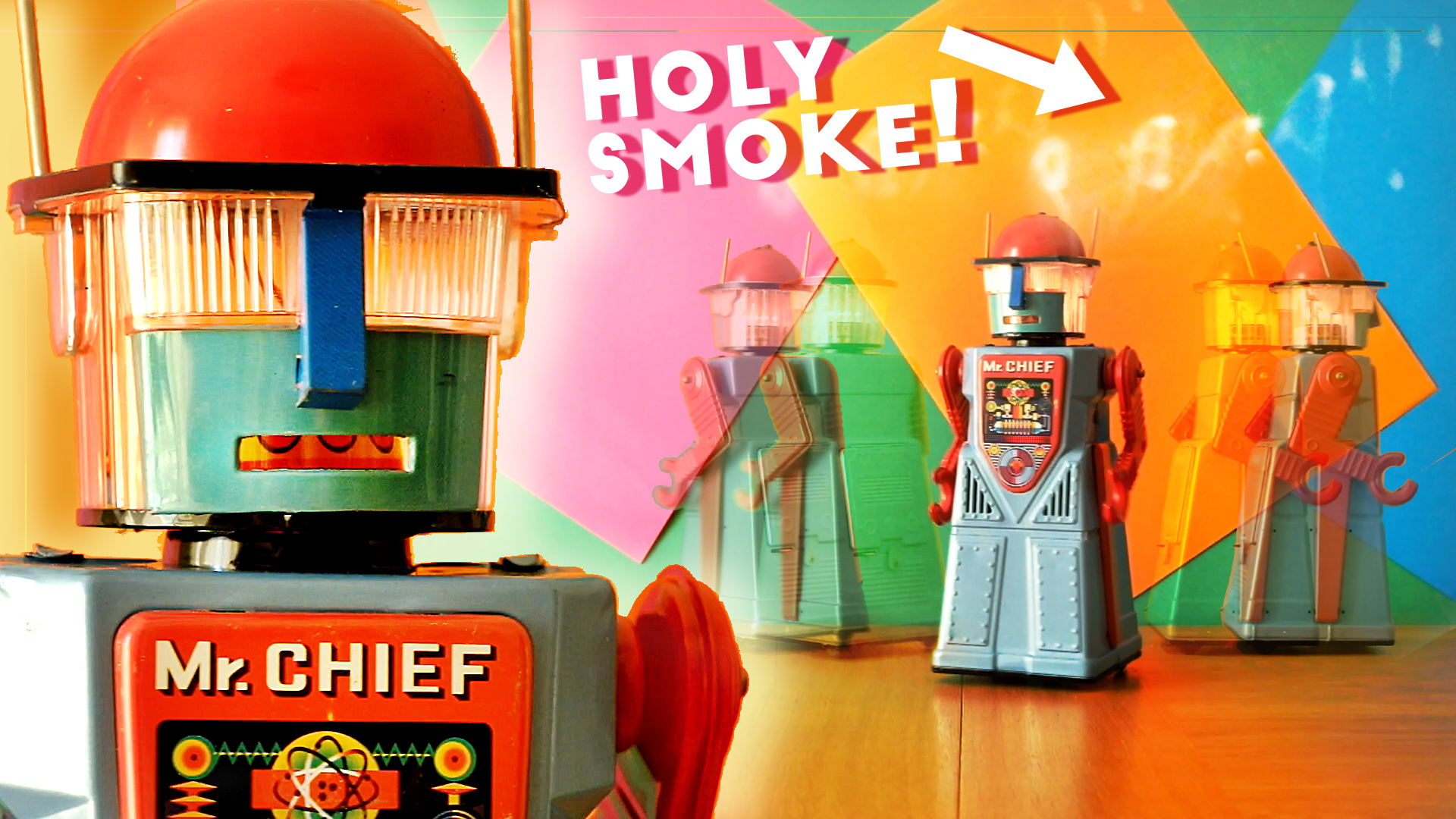 Mr Chief Smoky Toy Robot with Puffing Smoke