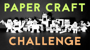 The Spooky Robot Paper Craft CHALLENGE | Halloween Crafts for Kids