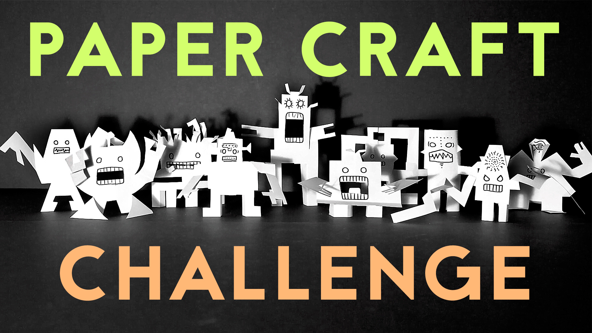 The Spooky Robot Paper Craft CHALLENGE   Halloween Crafts for Kids