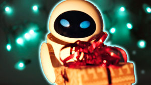 Transforming Eve wraps present for Wall-E | Robot Toys animation