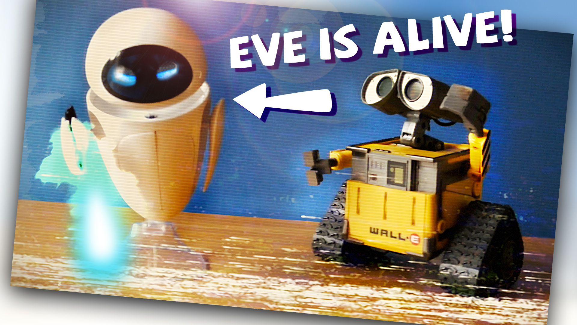 EVE IS ALIVE! Caught on camera   What happens when Wall-E toys are left alone
