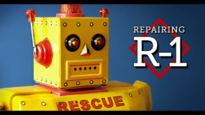 Repairing My R-1 Rescue Robot // Yellow Tin Toy by Rocket USA
