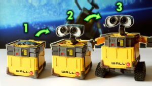 Transforming Wall E Toy with Stop Motion Animation