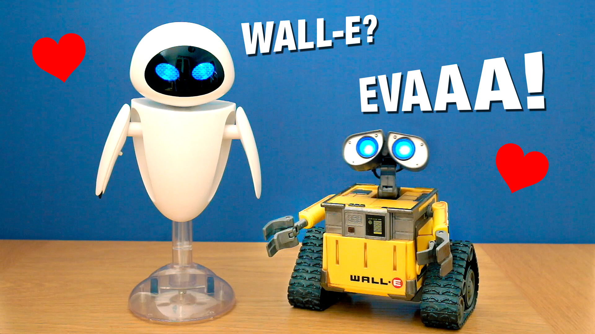 Talking Wall E and Eve Toys have a Conversation