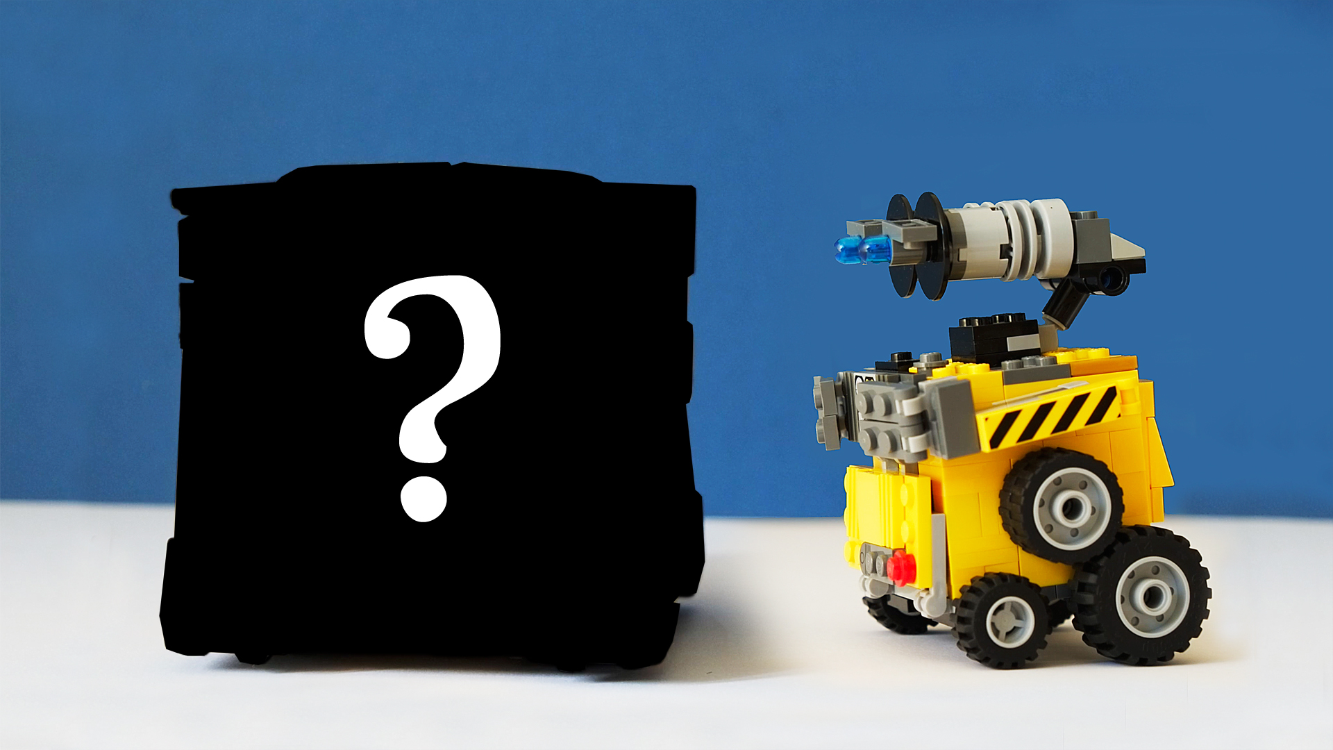 Lego Wall-E and the Giant Cube