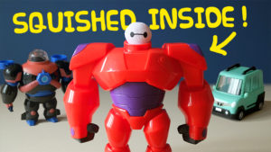Big Hero 6 Squish to Fit BAYMAX Toy Unboxing - Underwater suit, Battle Armour