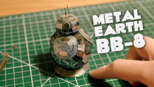 """Me """"trying"""" to build the METAL EARTH BB-8 model kit"""