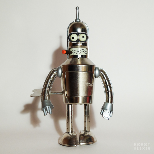 Bright N Shiny Bender - Wind Up Tin Toy by Rocket USA