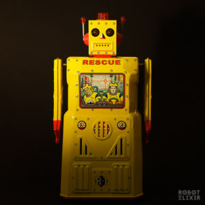 Yellow R-1 Rescue Robot from Rocket USA