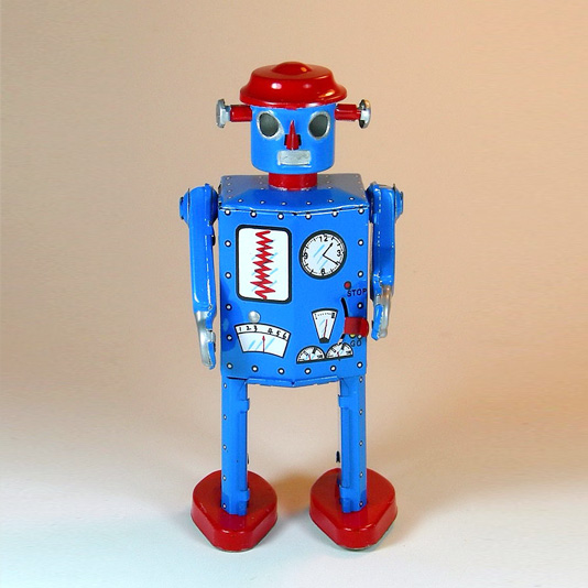 Atomic Robot Man Tin Toy Reproduction by Schylling