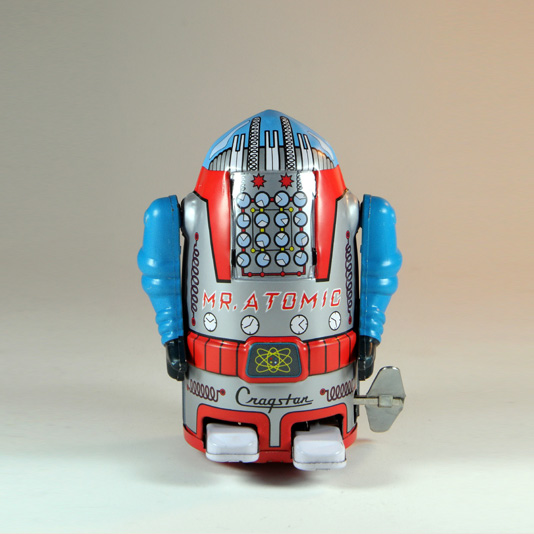 Mini Mr Atomic Robot - Reproduction Wind Up Toy