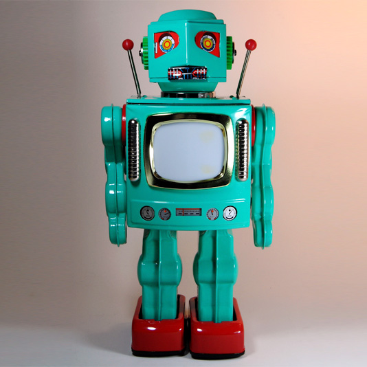 New TV Robot (Television Robot) by Metal House Japan