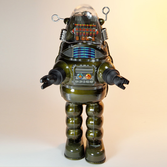 Billiken Robby the Robot tin toy (limited edition olive green version)