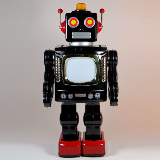 Television Robot by Metal House Japan