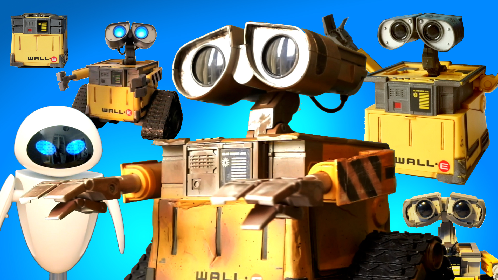 Lots and lots of WALL-E TOYS