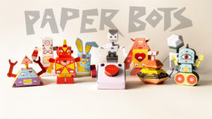 10 Awesome Paper Robots and a button you should NEVER press!!! // PaperMade Paper Bots