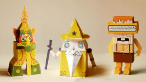 Can ROBOTS also be WIZARDS? // Let's make 10 more paper robots