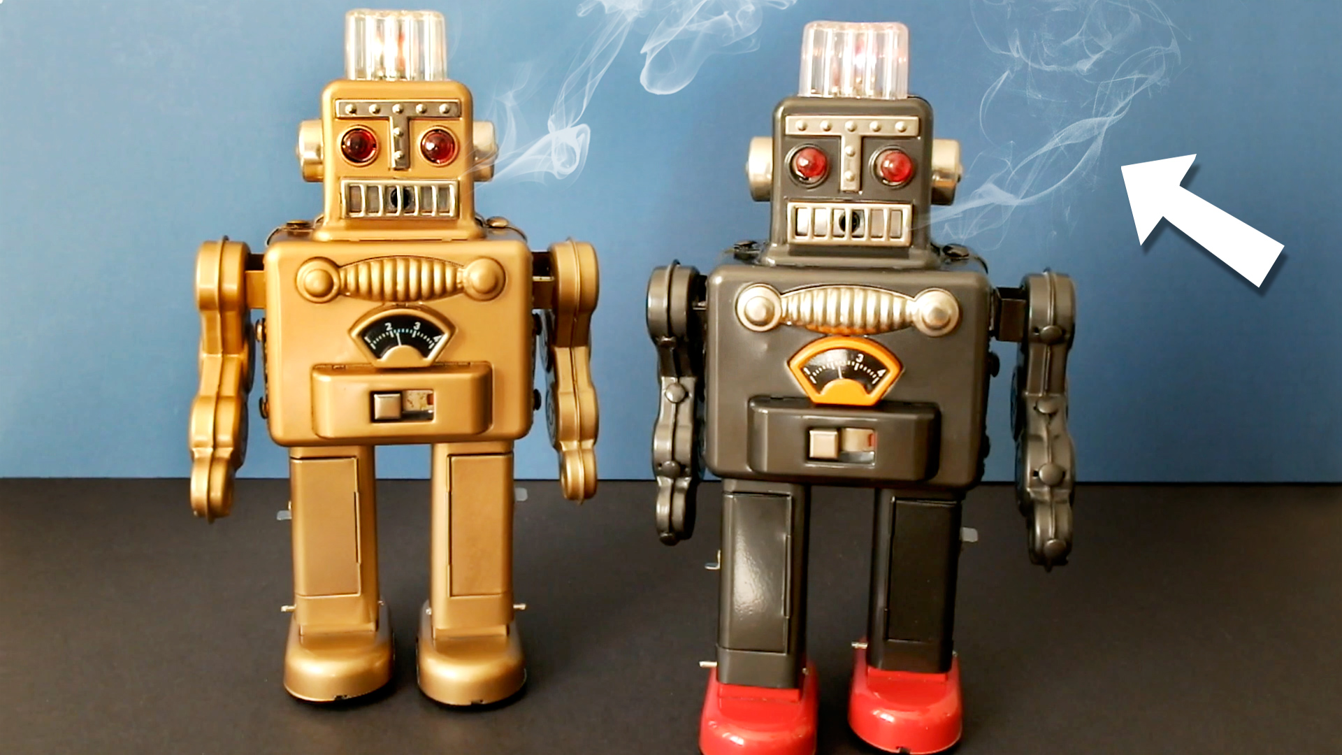 How to get your toy ROBOTS smoking again!