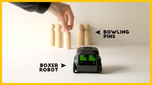 Does BOXER ROBOT like bowling? / Toy Robot Games & Fun