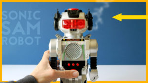 SONIC SAM Vintage Toy Robot // New Bright 1980s Magic Mike
