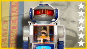 THE FANCY SPACEMAN - Retro Toy Robot with High Intensity Sounds