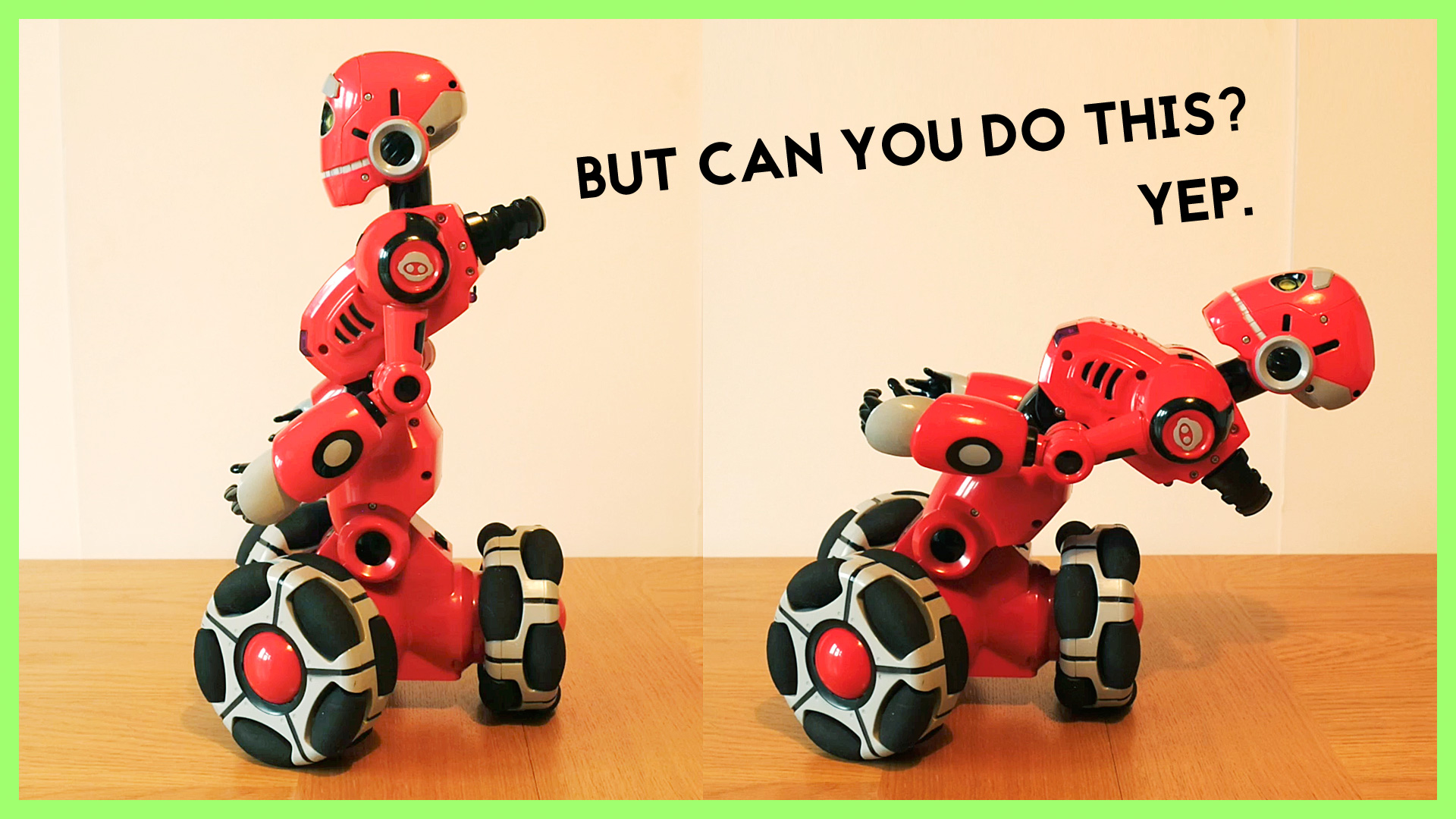But Can You Do This? … Robot Accepts Challenge!