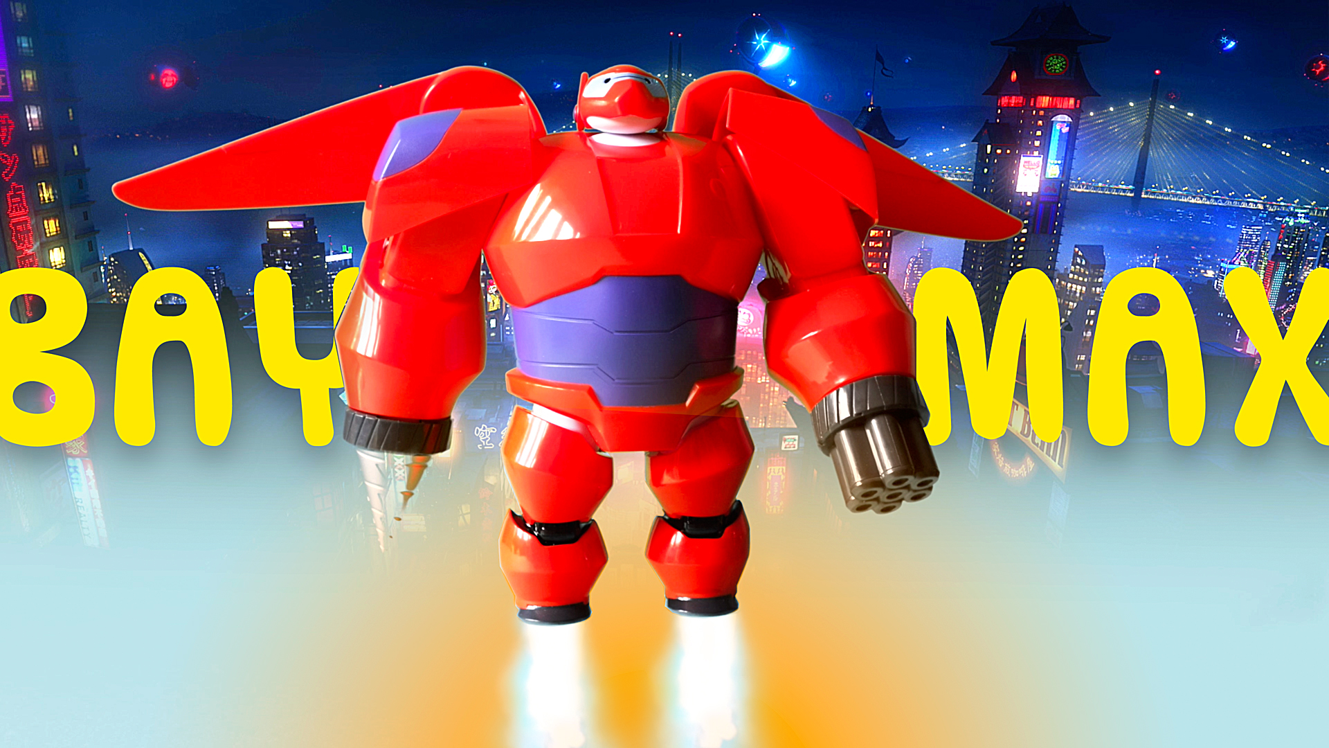 Transforming BAYMAX ARMOR UP 2.0 // Robot Toy from Big Hero 6