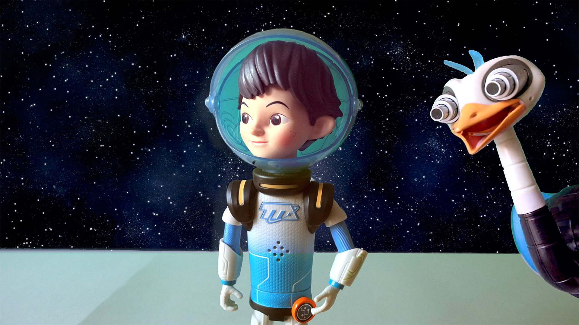 MERC HIDES FROM MILES !! - Miles from Tomorrowland Toys, Robot Space Bird