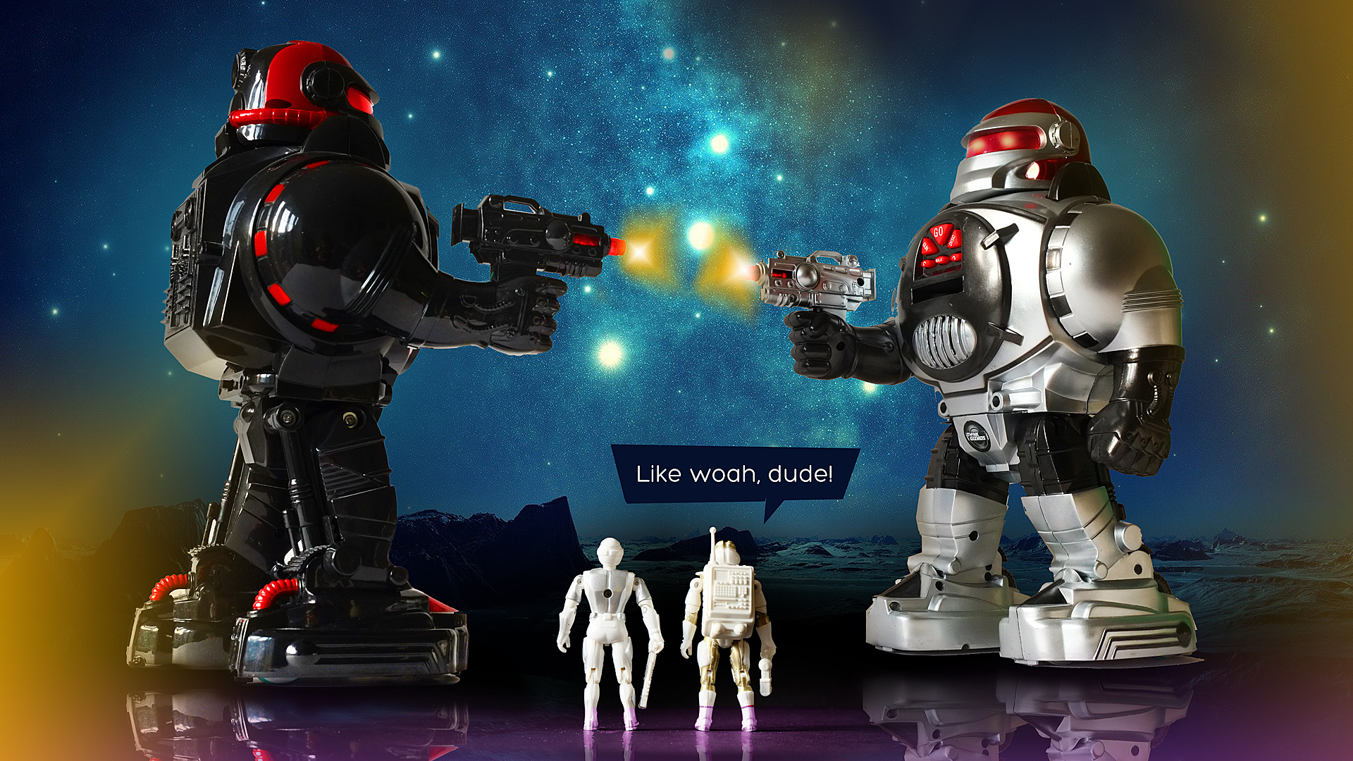 GALACTIC ROBOT BATTLE! // 2 Robo Shooters defend their home planet