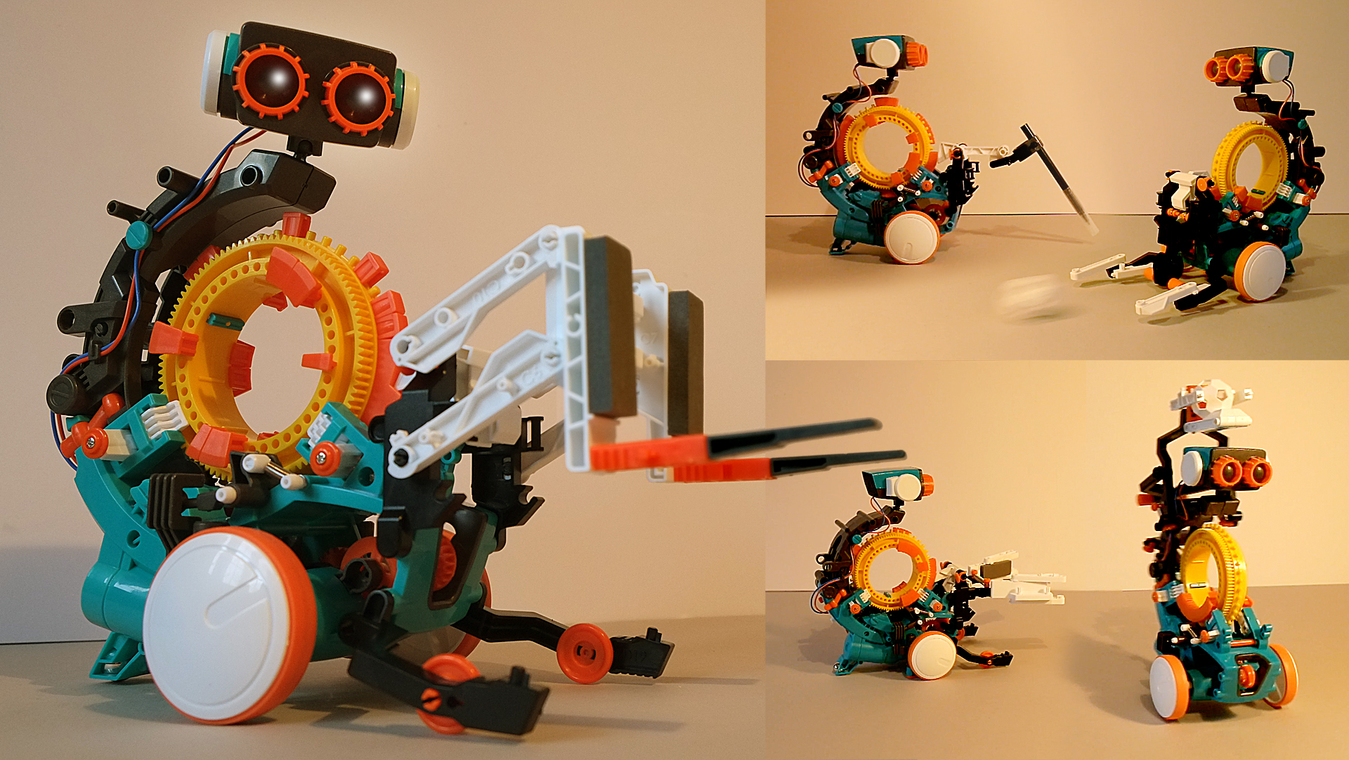 5 in 1 Mechanical Coding Robot // How to Build Step by Step